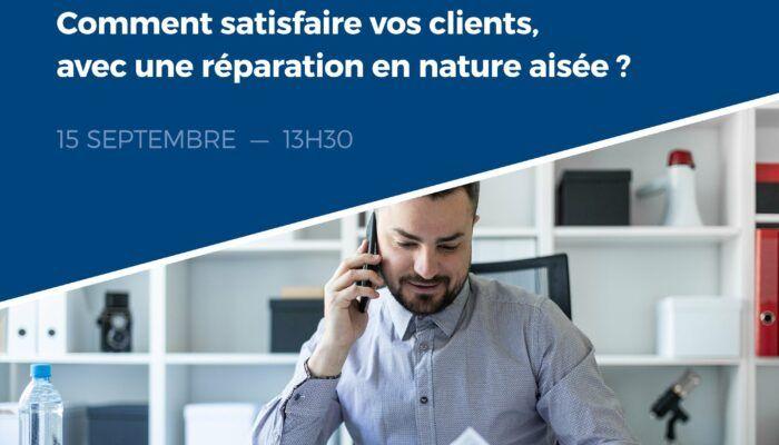 Des clients plus que satisfaits grâce à une réparation en nature facile